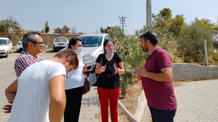 TKH Genel Başkanı Aysel Tekerek'ten yangından etkilenen Manavgat'a ziyaret