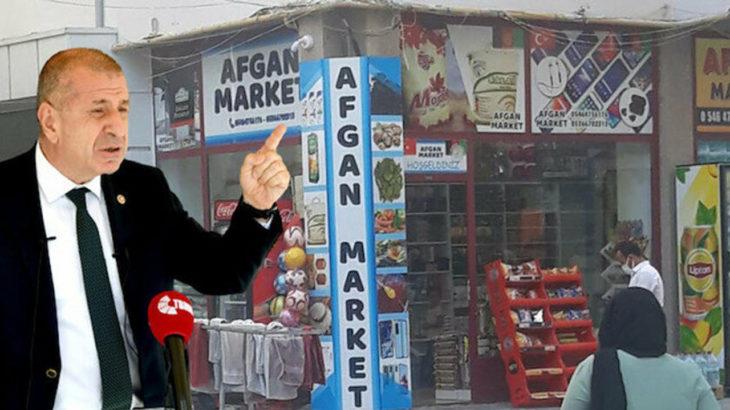 Ümit Özdağ'ın hedef gösterdiği 'Afgan Market' ismini değiştirdi