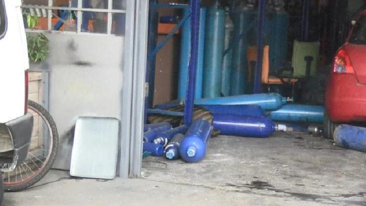Sanayi sitesinde patlama: Bir işçinin bacağı koptu