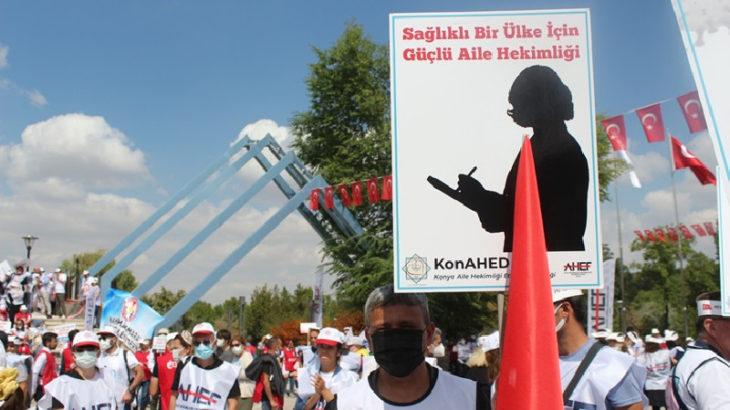 Aile hekimlerinden Ankara'da kitlesel eylem