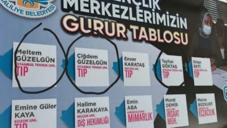 AKP'li belediyenin gurur tablosu: Kültür merkezi öğrencileri olmayan fakülteyi kazandılar