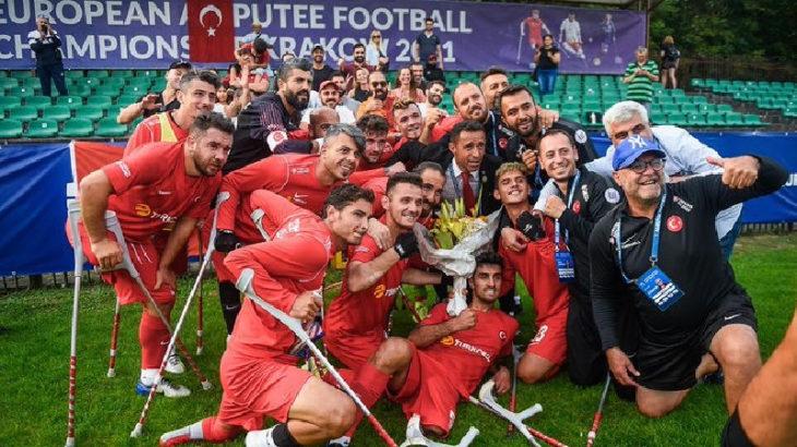Ampute Futbol Milli Takımı, Avrupa şampiyonu oldu