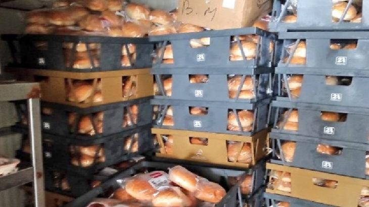 Bodrum'da son kullanma tarihi geçmiş yüzlerce paket hamburger ekmeği