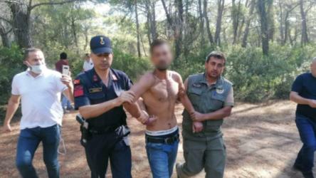 Manavgat'ta ormanı yakmaya çalışan şahıs  yakalandı