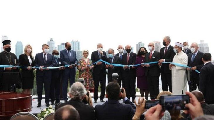 Ali Erbaş, New York'taki Türkevi'nin açılışında