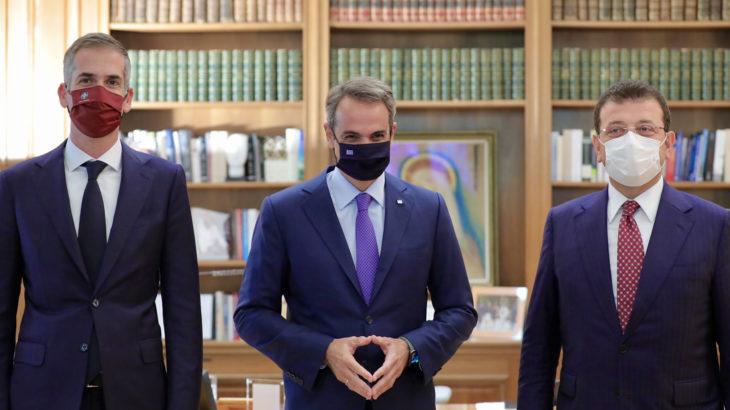 İmamoğlu'ndan Yunanistan'a ziyaret: Başbakan Miçotakis ile görüştü