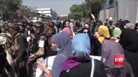 Kadınlar Kabil'de Taliban'ı protesto etti: Taliban biber gazıyla saldırdı