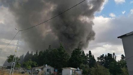 İstanbul'da fabrikada yangın çıktı