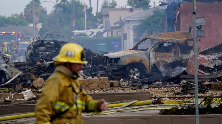 ABD San Diego'da uçak düştü: 2 ölü