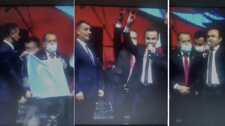 MHP'li belediyenin programında sahte Doğu Türkistan Cumhurbaşkanı skandalı