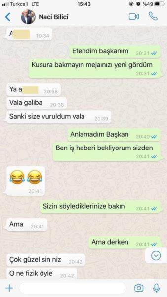 AKP'li ilçe başkanından torpil isteyen kadına 'sarkıntılık' mesajları