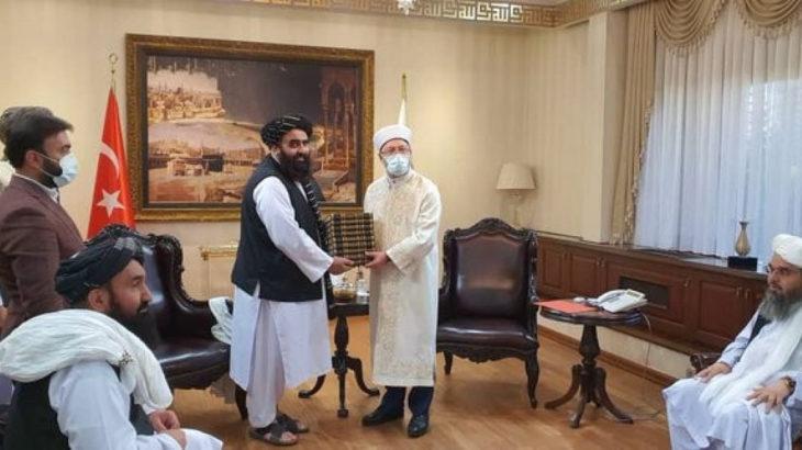 Diyanet İşleri Başkanı Erbaş, Taliban heyetini kabul etti
