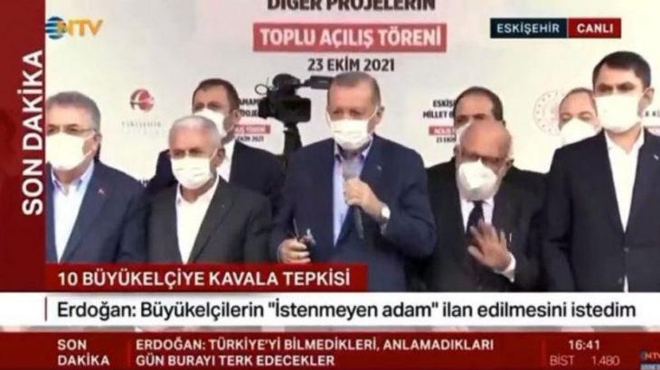 VİDEO | Erdoğan 'evim yandı, kimsem yok' diye haykıran yurttaşı görmezden gelerek açılışa devam etti