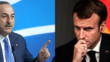 Dışişleri Bakanı Çavuşoğlu'dan Macron'a sözler: Söyleyeceklerini arkamızdan değil doğrudan yüzümüze söylemesin