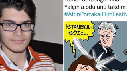 AKP'li ismin, Nihal Yalçın'a şiddet uygulandığı tasvir edilen karikatür çizmesi tepkiye yol açtı