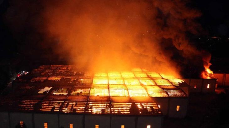 Kayseri OSB'de büyük fabrika yangını