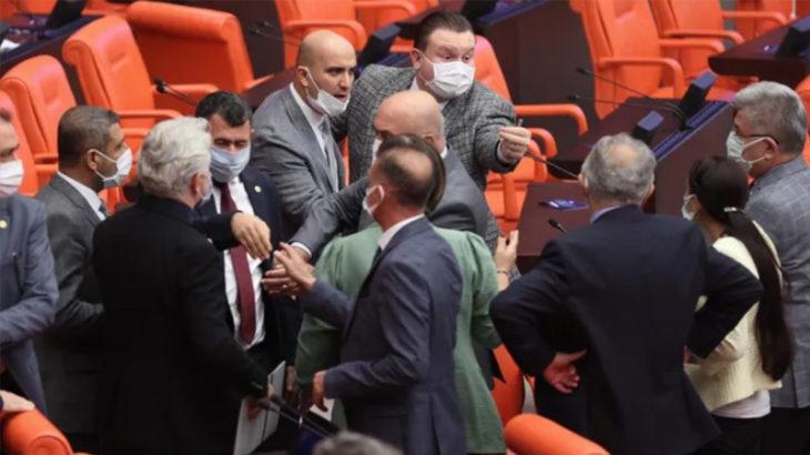 MHP'li Olcay Kılavuz, bağıra çağıra Meclis'te küfür etti