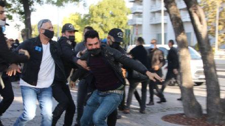 Polisten gazeteciye 'Seni dört parçaya bölerim' tehdidi