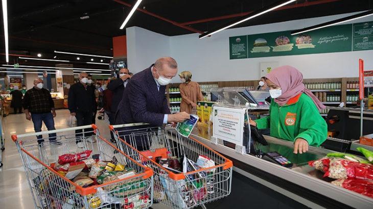 Erdoğan'ın 'gayet uygun' diyerek alışveriş yaptığı markette ödediği miktar